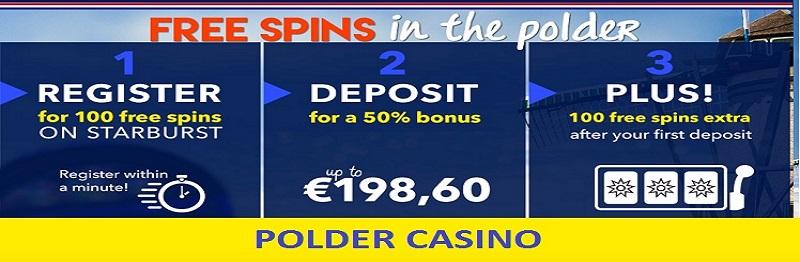 Polder Casino bonus 50%
