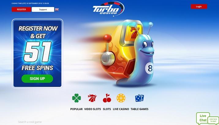 Turbo Casino bonus 100%
